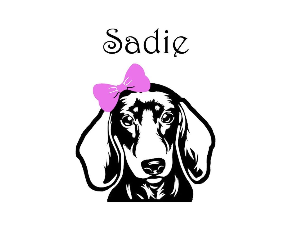 Customizable Dachshund Decal Etsy In 2020 Vinyl Decals Wall Stickers Quotes Decals [ 966 x 1242 Pixel ]