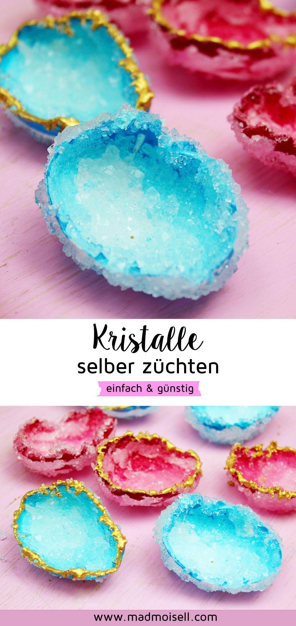 DIY Kristalle selber züchten mit Alaune und Eierschalen: Einfach & Günstig #zuhausediy