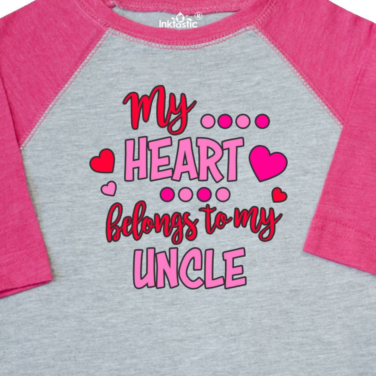 inktastic I Wear Teal Pink and Blue for My Guncle Long Sleeve Creeper