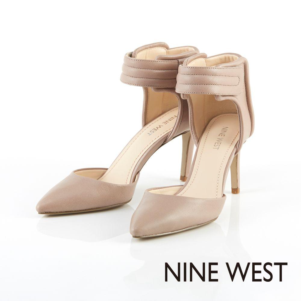 +NINE WEST 運動風與時尚感兼具 鋪棉壓縫飾帶設計高跟鞋-完美杏 - Yahoo!奇摩購物中心