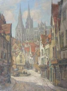Ernest Llewellyn Hampshire: Chartres Cathedral 1925