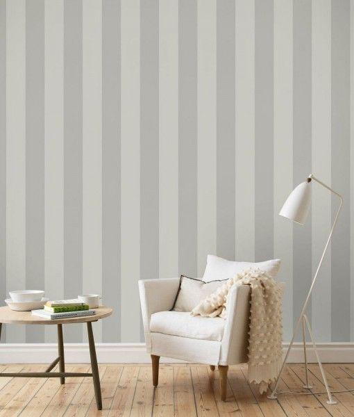 Papel pintado rayas kristina paredes gris muebles - Papel pared rayas ...