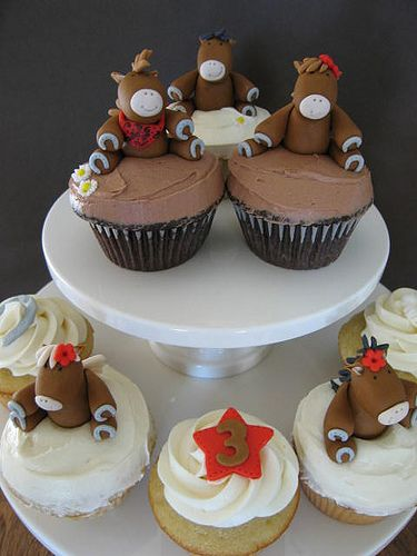 Horse Cupcakes Blue cupcakes Cake and Birthday cakes