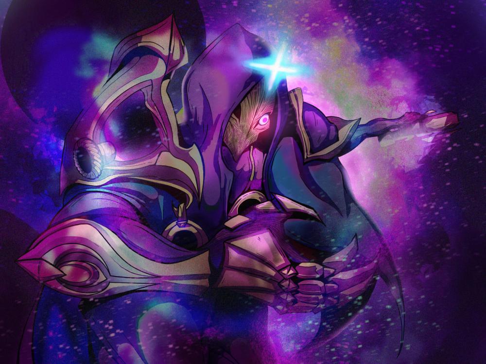 Artstation Jhin Dark Cosmic Fanart Breimus Briemen Champions League Of Legends League Of Legends Jhin League Of Legends Characters