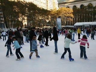 Bryant Park Ice Rink - New York City, NY #Yuggler #KidsActivities #IceSkating