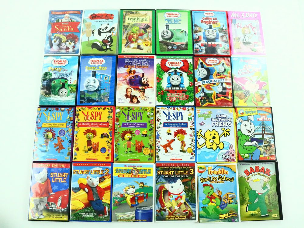 Kids Movie DVD Lot Of 57 Movies Disney Animation Bunny Town