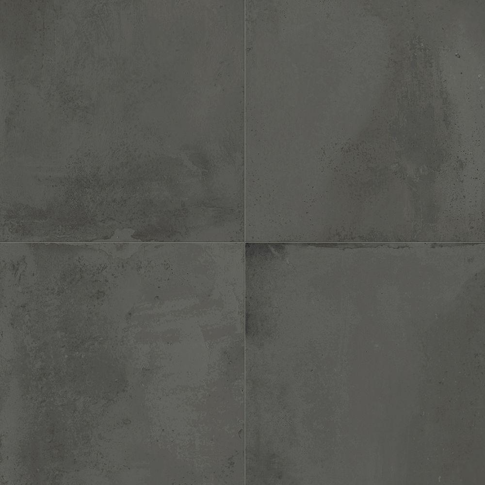 Carrelage Interieur Effet Beton Use 45x45 Anthracite Naturel