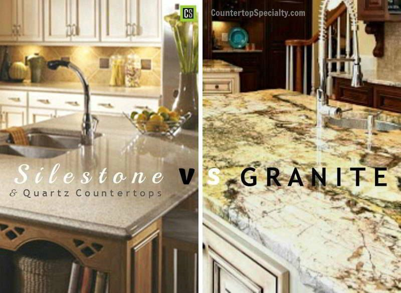 Silestone vs granite vs quartz countertop materials Kitchen countertops quartz vs solid surface