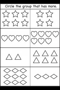 Comparison Worksheets More Or Less 2 Worksheets Kindergarten