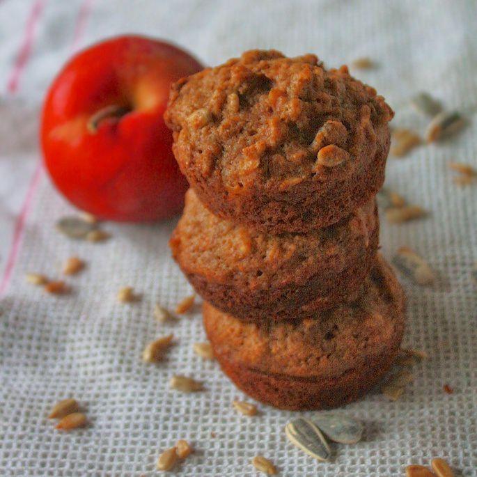 Sunflower+Seed+Apple+Muffins+|+Teaspoonofspice.com