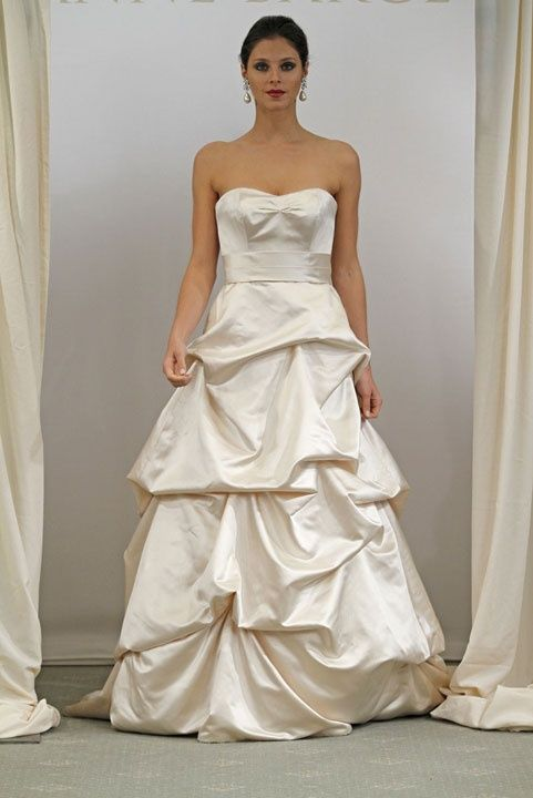 Strapless ball gown with empire waist taffeta bridal gown,wedding dresses