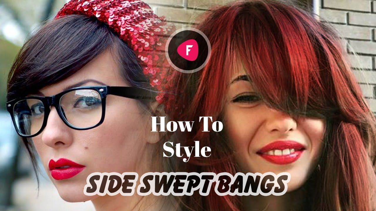 How To Style Side Swept Bangs Tutorials Compilation Part 1 Bangs Side Swept Bangs How To Style Hair Tutorial Compilation