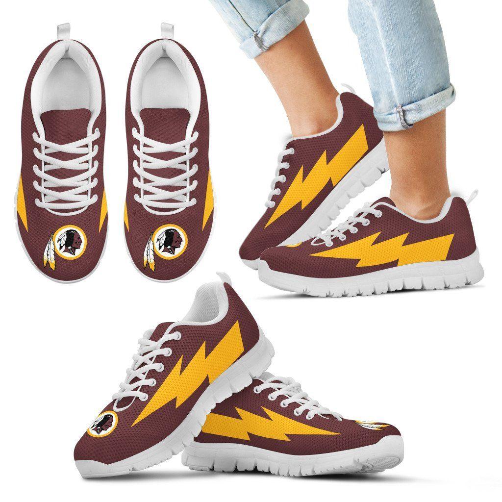 Cute Style Washington Redskins Sneakers Thunder Lightning