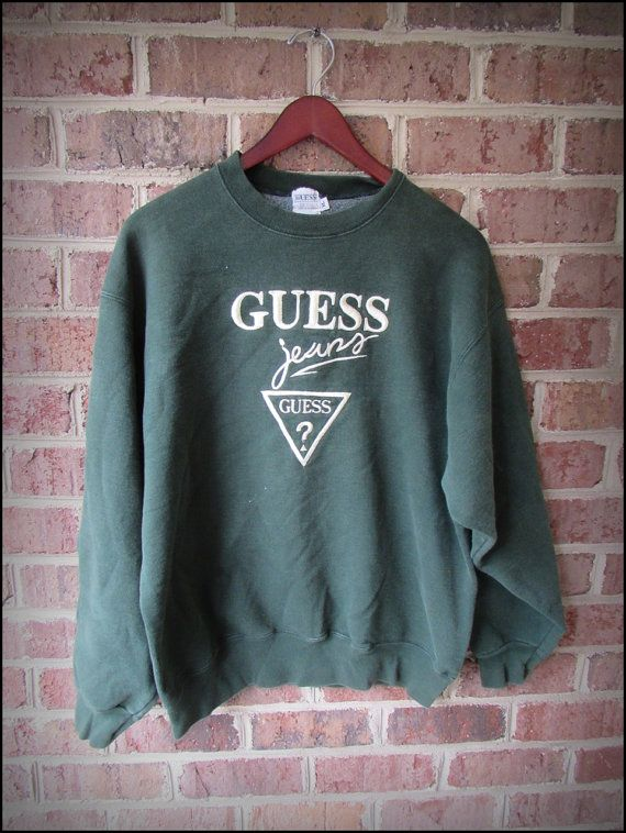 0def0e9dd841 Vintage 90 s Guess Jeans Embroidered Classic Graphic Crewneck ...