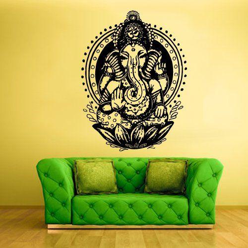 Wall Vinyl Sticker Decals Decor Art Bedroom Design Mural Ganesh Om ...