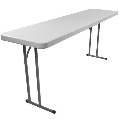 8 Ft Rectangular Plastic Folding Training Table Rb 1896 Gg Simple House Table White Granite