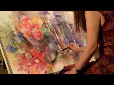 Yuko Nagayama 2009 Youtube 水彩 水彩画のアート 水彩画の技法