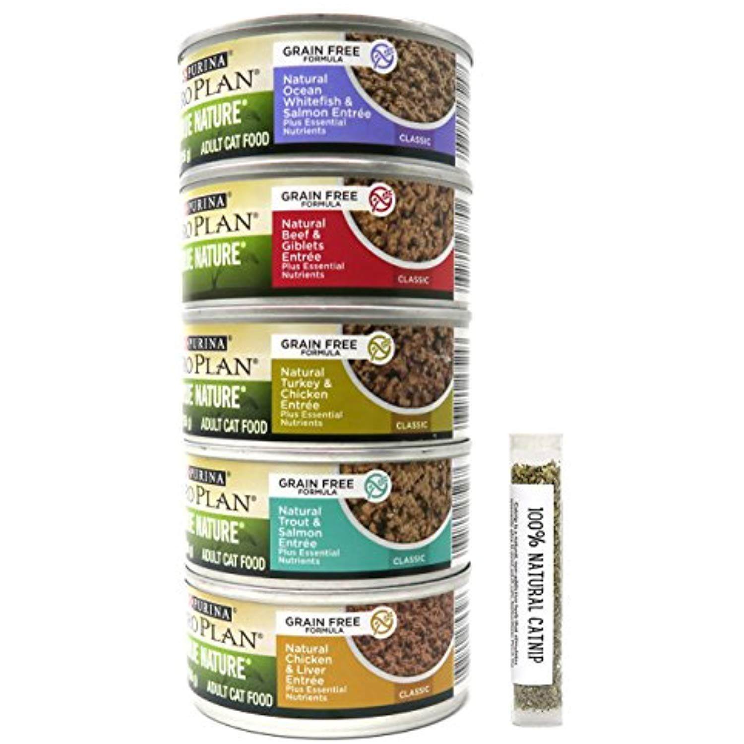 Pro Plan Purina True Nature Formulated Grain Free Wet Cat Food Variety Pack 5 Flavors 5 5 Ounces Each 12 Total Cans Wet Cat Food Canned Cat Food Grain Free