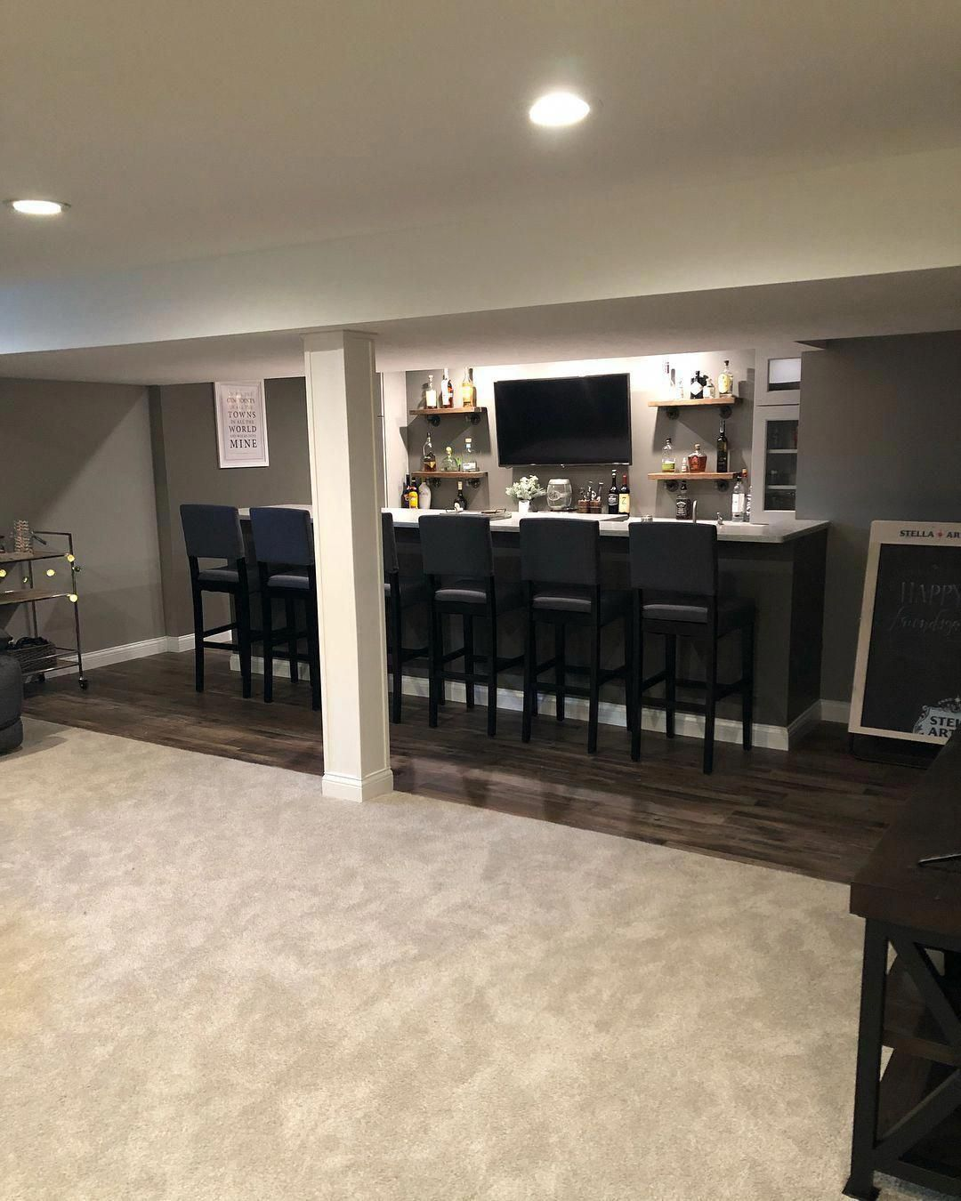 Small Basement Man Cave Ideas Smallbasementideasonabudget Basement Remodeling Small Basement Remodel Basement Design