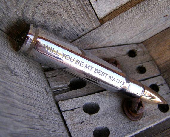 Best Man Gift Engraved 50 Caliber Bullet Bottle Opener With Box Groom Groomsmen Wedding