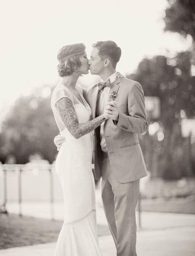 A Roaring 1920 S Wedding 1920s Wedding Bridal Tattoo Vintage Wedding