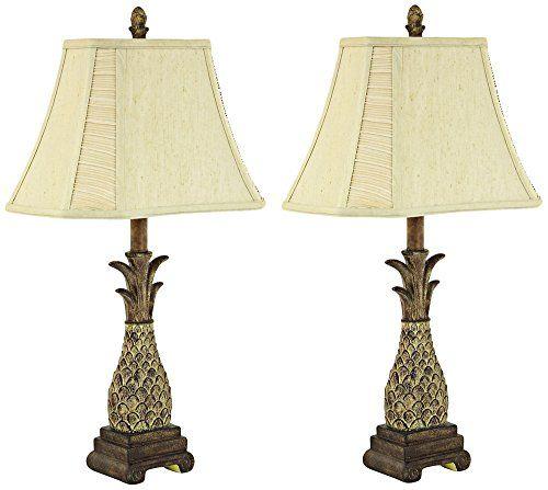 Aspire Shawn Pineapple Table Lamp Set Of 2 Brown Table Lamp Sets Table Lamp Lamp