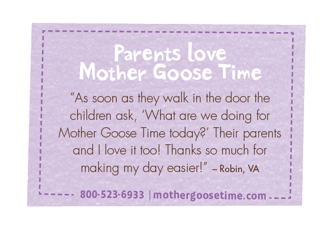Parents love Mother Goose Time!  Repin if you are a parent that loves Mother Goose Time!  #MotherGooseTime #PreschoolParents