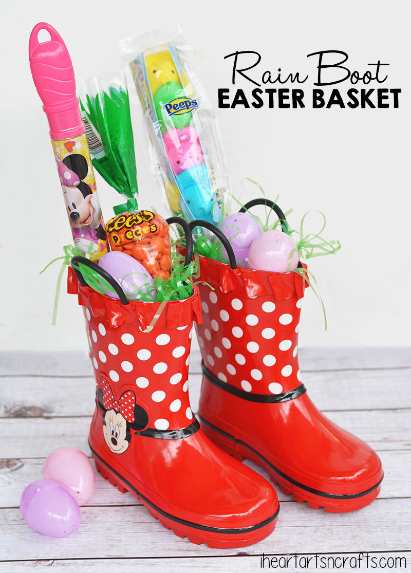 Rain boot easter basket idea easter baskets wellington boot and use rain boots as an easter basket this is just plain fun and also a negle Choice Image