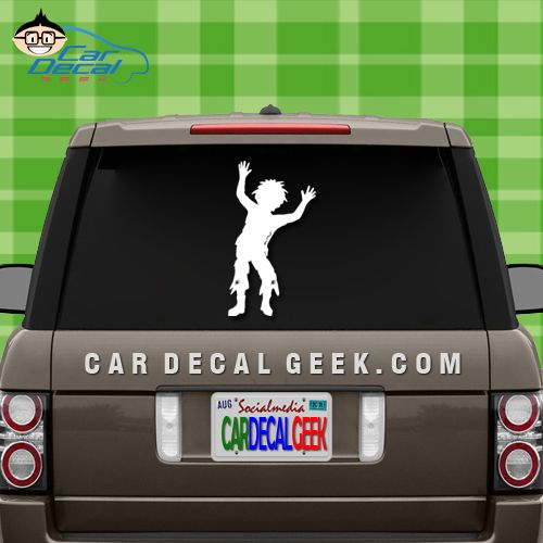 This little zombie boy car window decal is going to look awesome on any zombie lovers