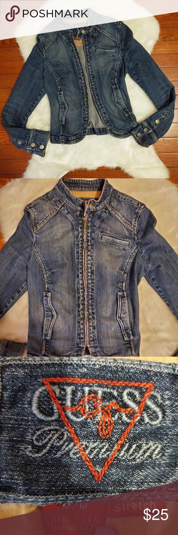 Girls Guess Premium Denim Jacket Premium Denim Denim Jacket Jackets [ 1740 x 580 Pixel ]