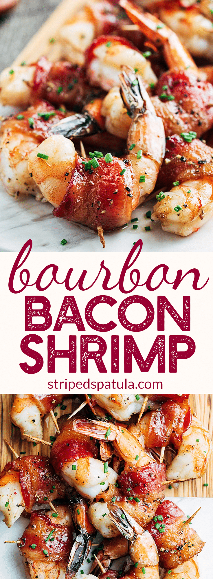 Bacon-Wrapped Shrimp with Bourbon Glaze