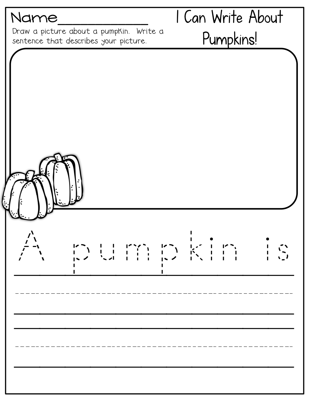 I Can Write About Pumpkins