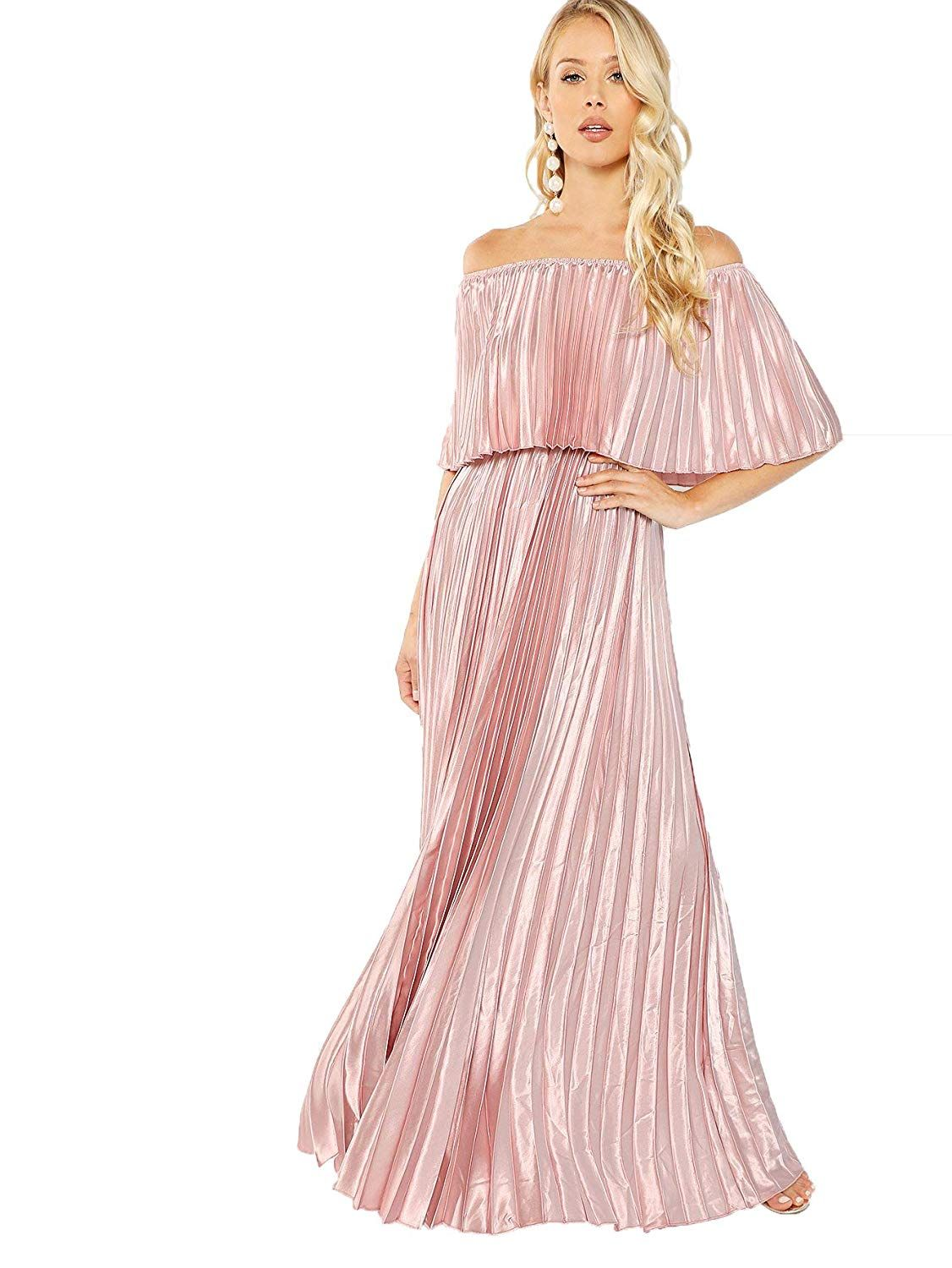 Milumia Women s Off The Shoulder Layered Ruffle Party Maxi Dress4.4 out of  5 stars c38e9f2a8