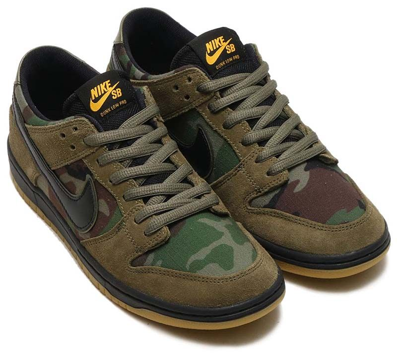8add092370e2 NIKE SB ZOOM DUNK LOW PRO  MEDIUM OLIVE BLACK-GUM LIGHT BROWN  854866-209