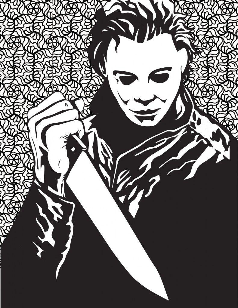Horror Movies Printable Coloring Pages  Michael myers halloween