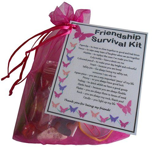 Friendship best friend bff survival kit gift great Christmas ideas for your best friend