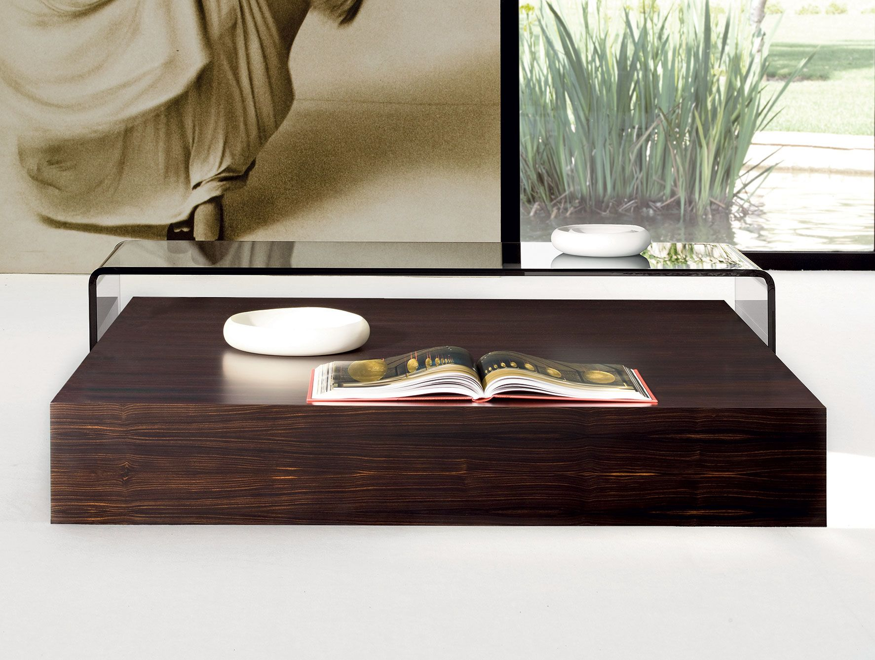Pat Norma Italian Designer Composed Of Two Handmade Coffee Tables And Shown In Transparent Glass Handmade Coffee Table Wooden Coffee Table Glass Coffee Table [ 1338 x 1773 Pixel ]