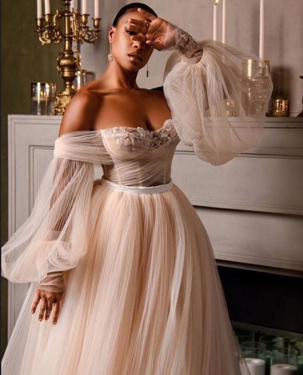 Bella Off The Shoulder Boho Wedding Dress in 2020 Boho