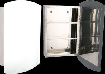 Medicine Cabinets Surface Mount Bright Stainless Steel Stainless