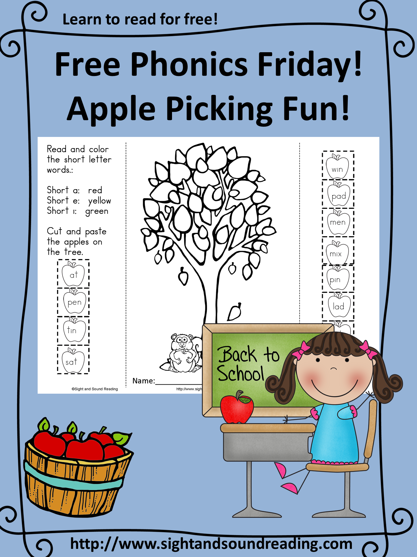 Fall Apple Picking Phonics Fun