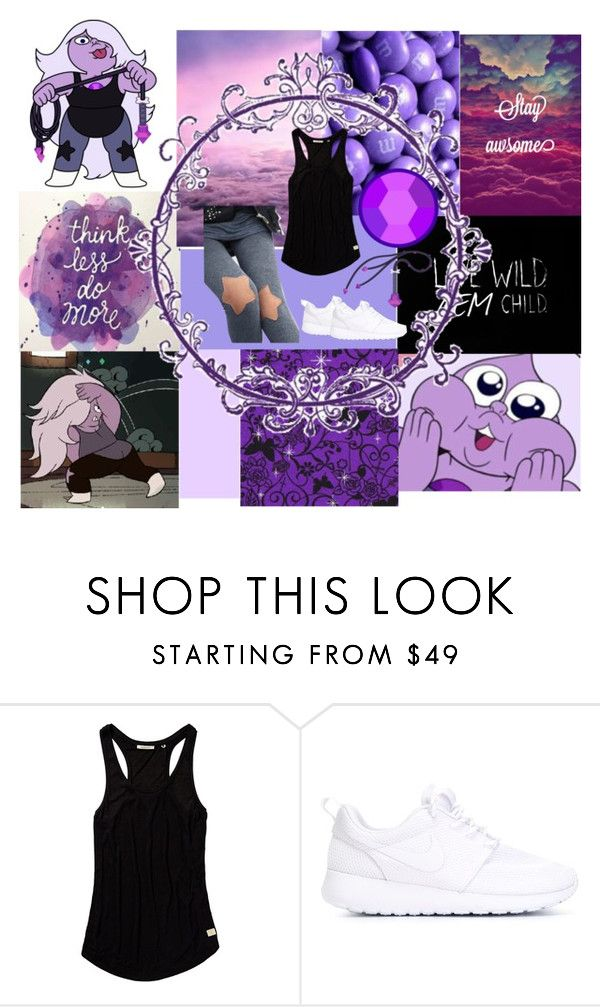 """Amethyst Steven Universe"" by raiasaur ❤ liked on Polyvore featuring Scotch & Soda and NIKE"