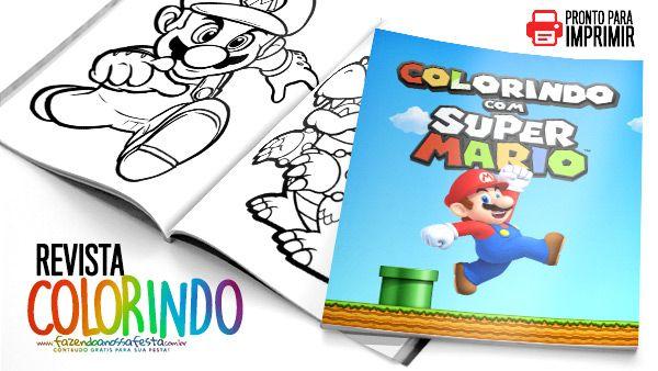 Livrinho Para Colorir Mario Bros Gratis Para Imprimir Mario Bros