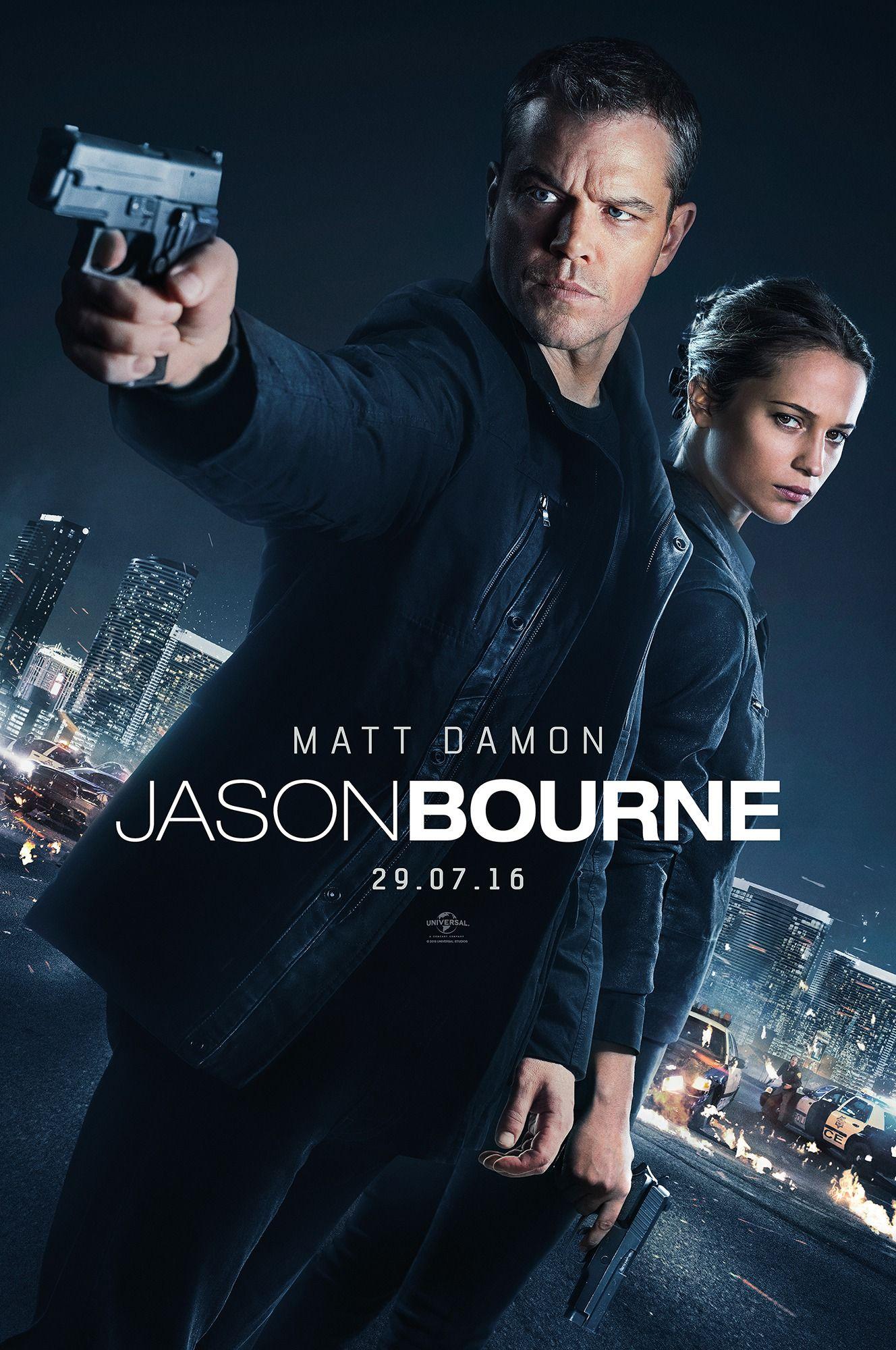 Jason Bourne 2016 Official Movie Poster Jason Bourne Movie Bourne Movies Jason Bourne 2016
