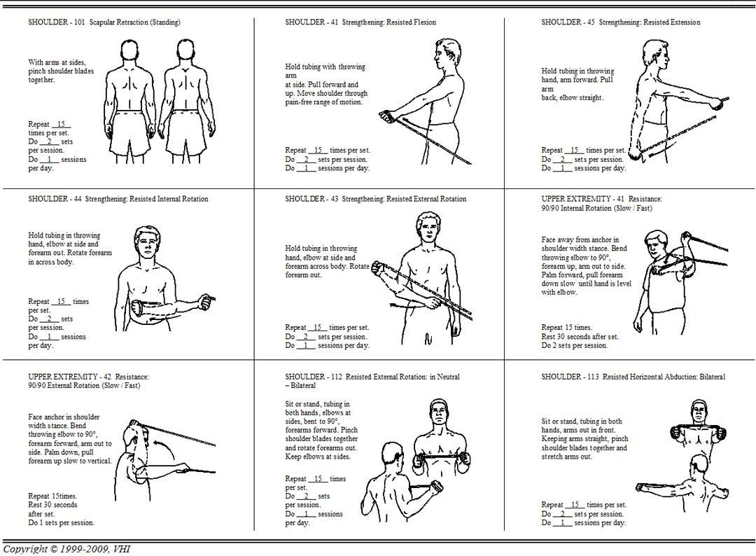 Back Strengthening Exercises Using Resistance Bands Shoulder Workout Shoulder Rehab Exercises Shoulder Workout At Home