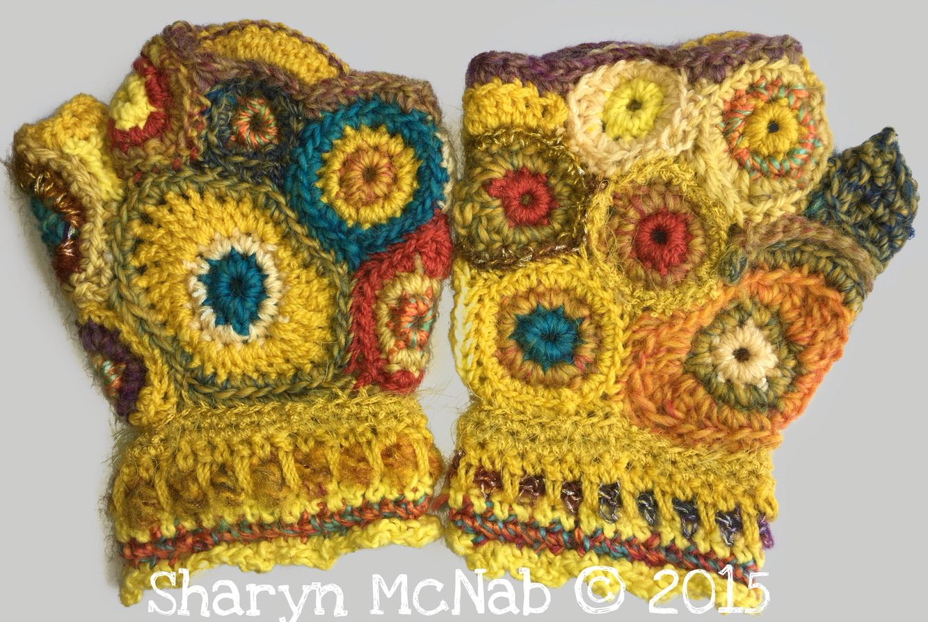 Freeform crochet hand warmers | Free form Acessories | Pinterest