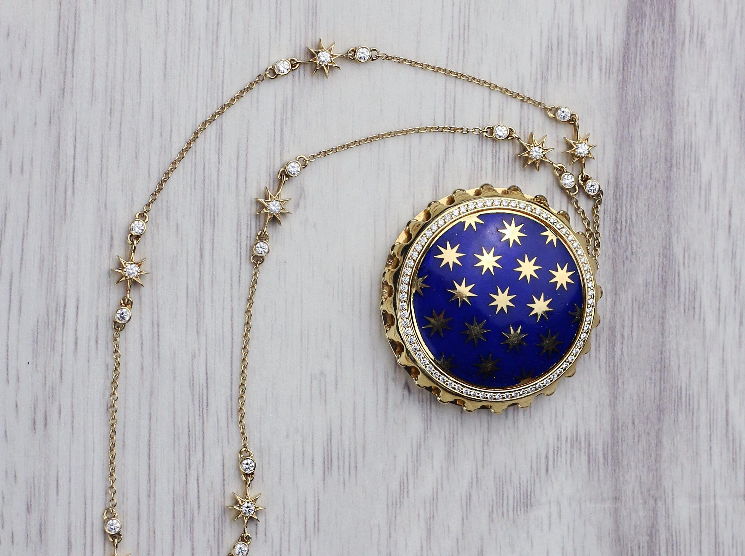 c5bc80fee Get lost in the stars with this rare diamond Tiffany & Co. Paloma Picasso  Venezia Stella Necklace