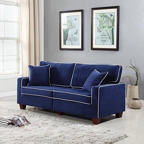 Divano Roma Furniture Collection - Modern Two Tone Velvet Fabric