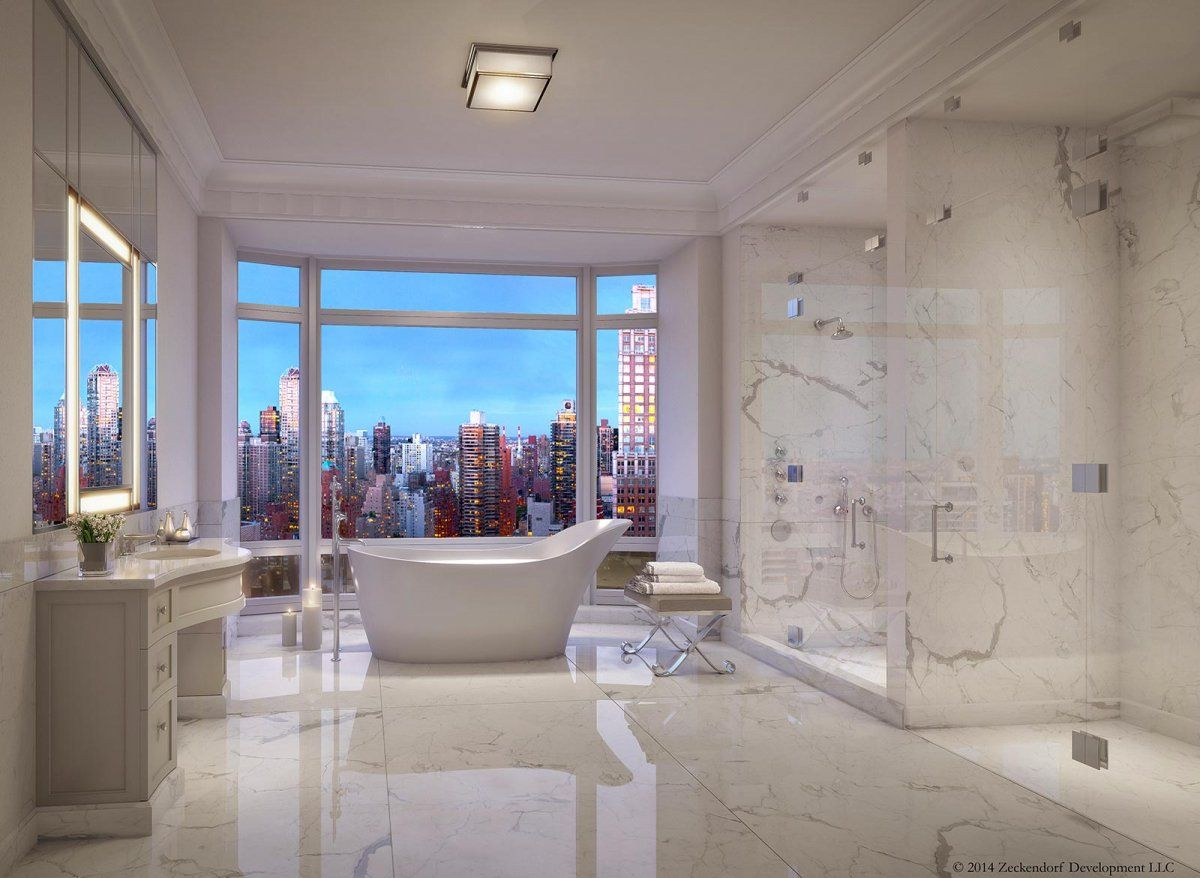 The New Most Expensive Apartment In New York City Will Cost 130 Million See Inside Nyc Apartment Luxury New York Apartment Apartment Bathroom