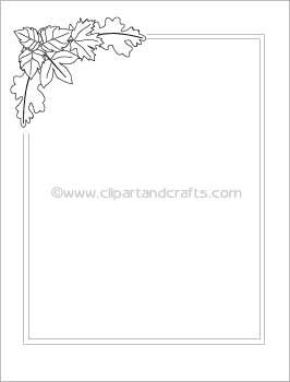 Printable Coloring Book Pages: Leaves Border Paper to Color | Clip ...
