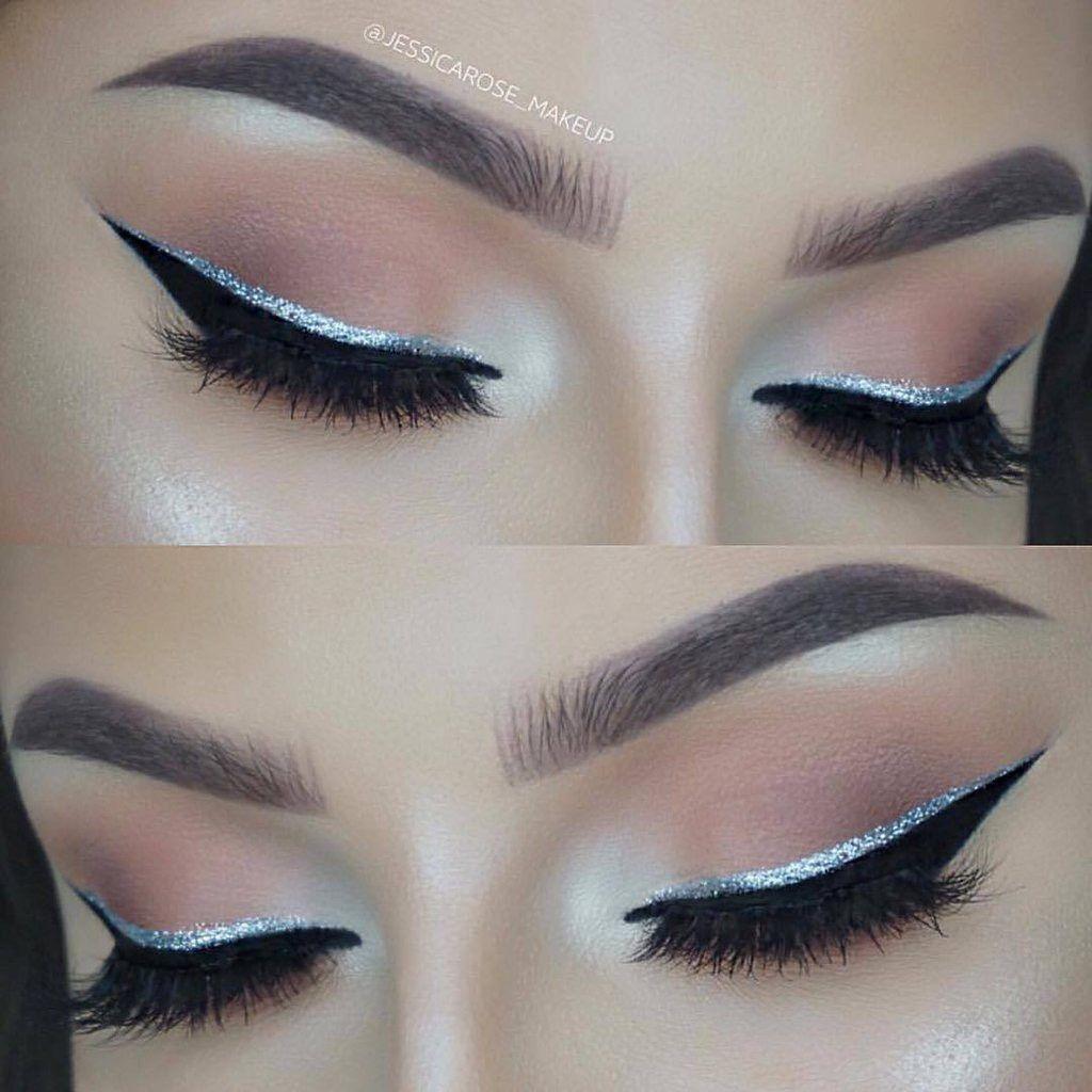 Pin by Alexis Trujillo on Make up Silver glitter eye